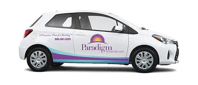 Paradigm Homecare Car Decals