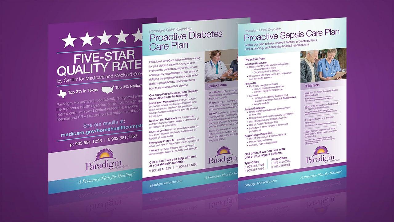 Paradigm Homecare Clinical Cards