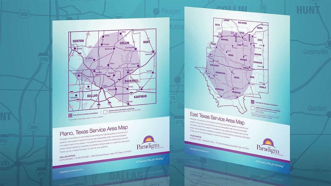 Paradigm Homecare Area Maps