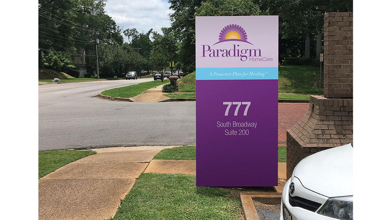 Paradigm Homecare Street Sign