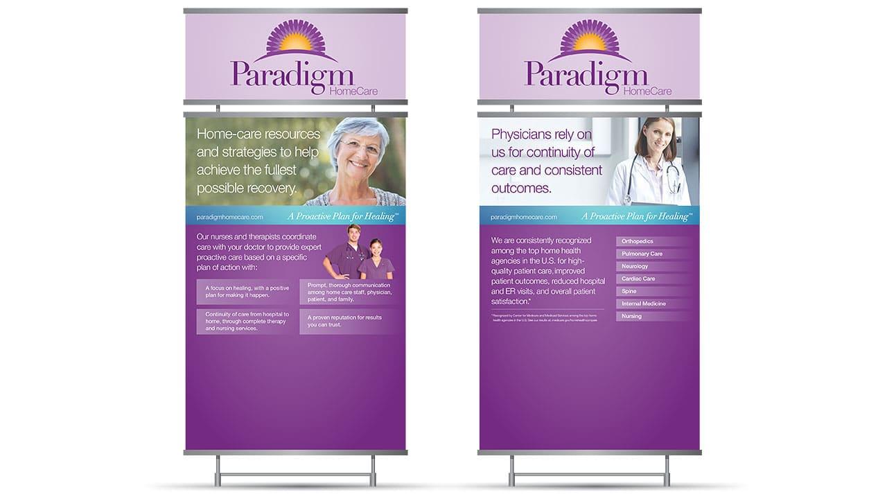 Paradigm Homecare Tradeshow Signs