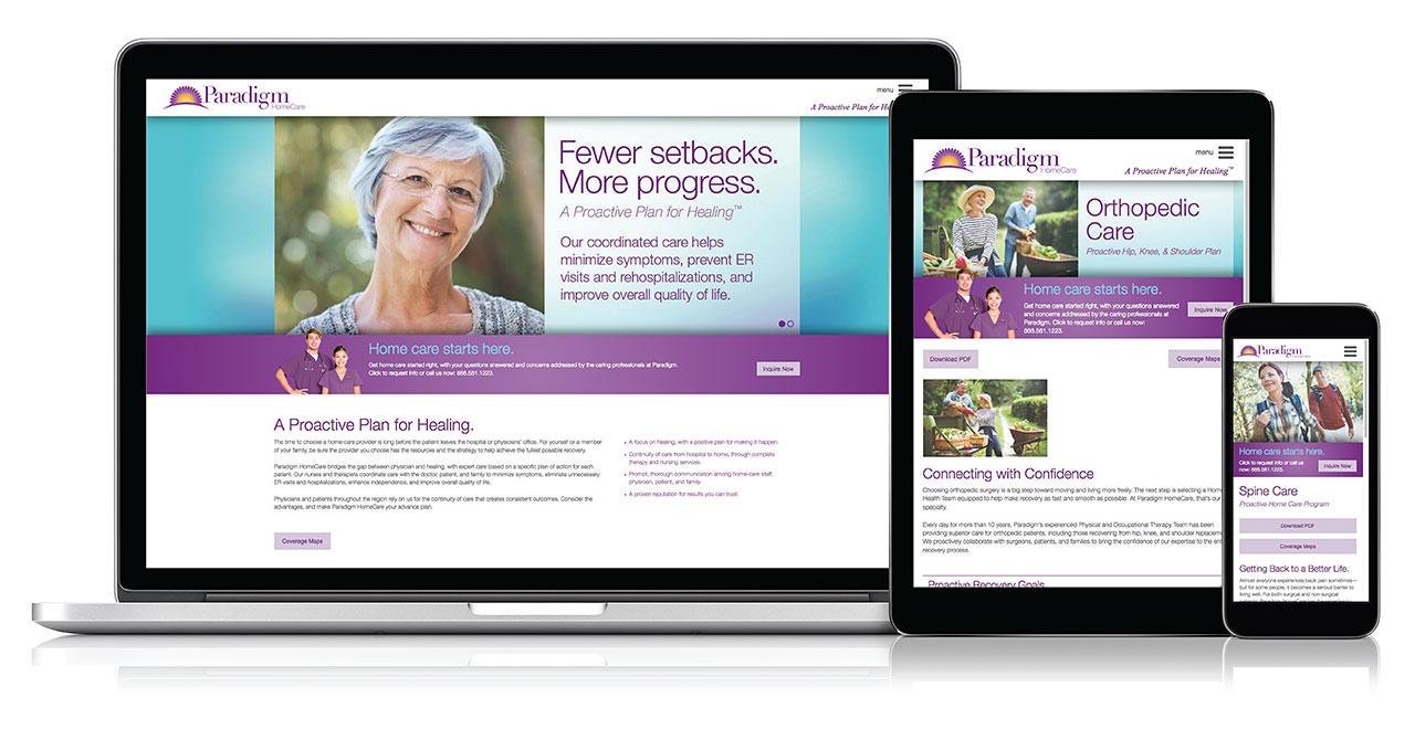 Paradigm Homecare Website