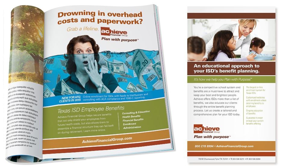 Achive Financial Group Print Ads
