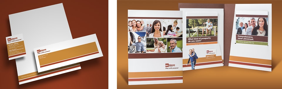 Achieve Financial Group Stationery and Folder