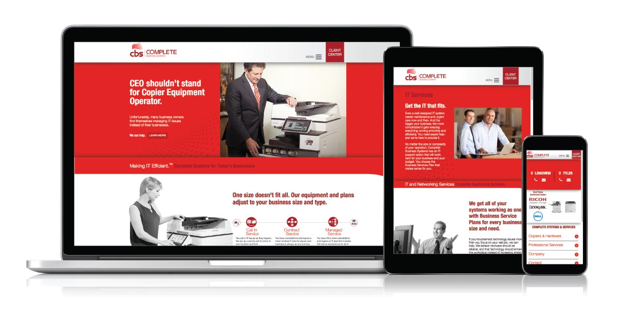 Complete Business Solutions - Responsive Website