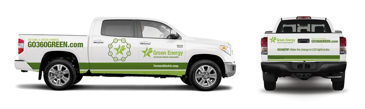Farmers EC Green Energy Truck Wrap