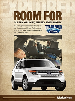 Tyler Ford Print Ad