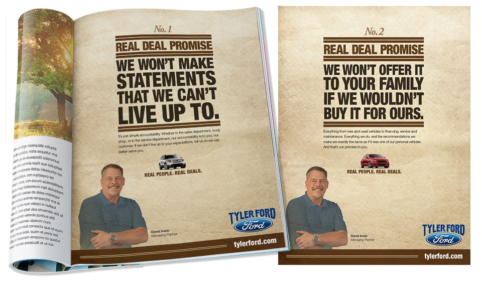 Tyler Ford Print Ads