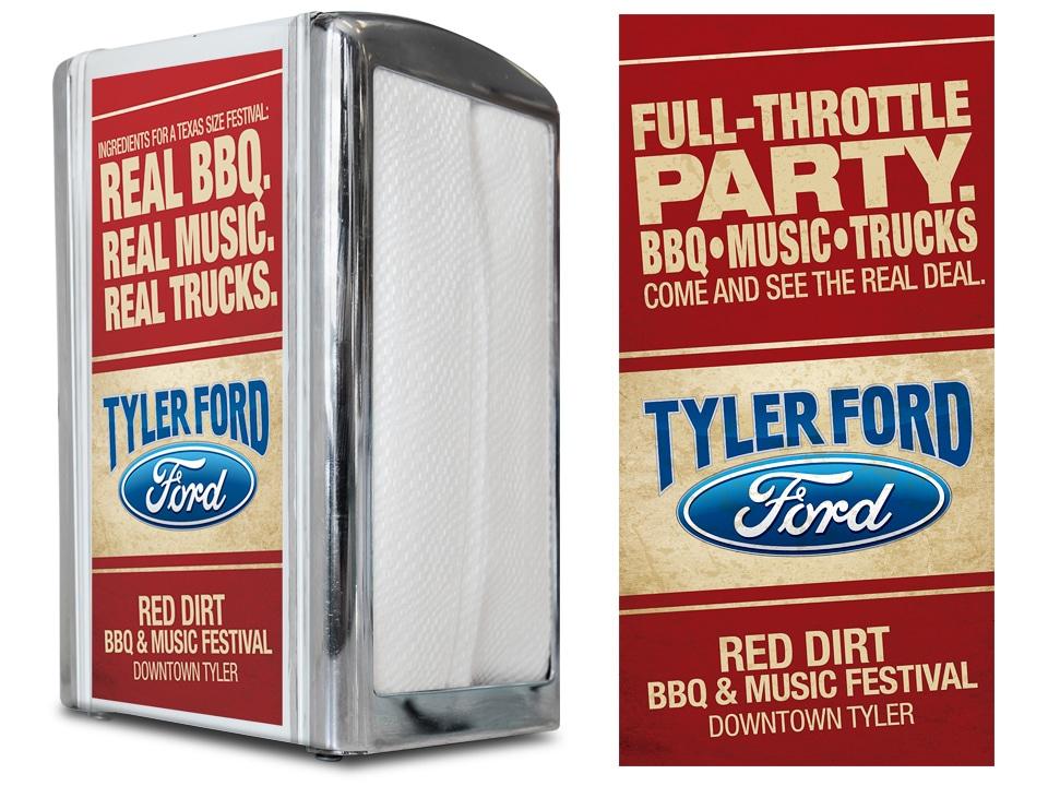 Tyler Ford Napkin Dispenser Sticker