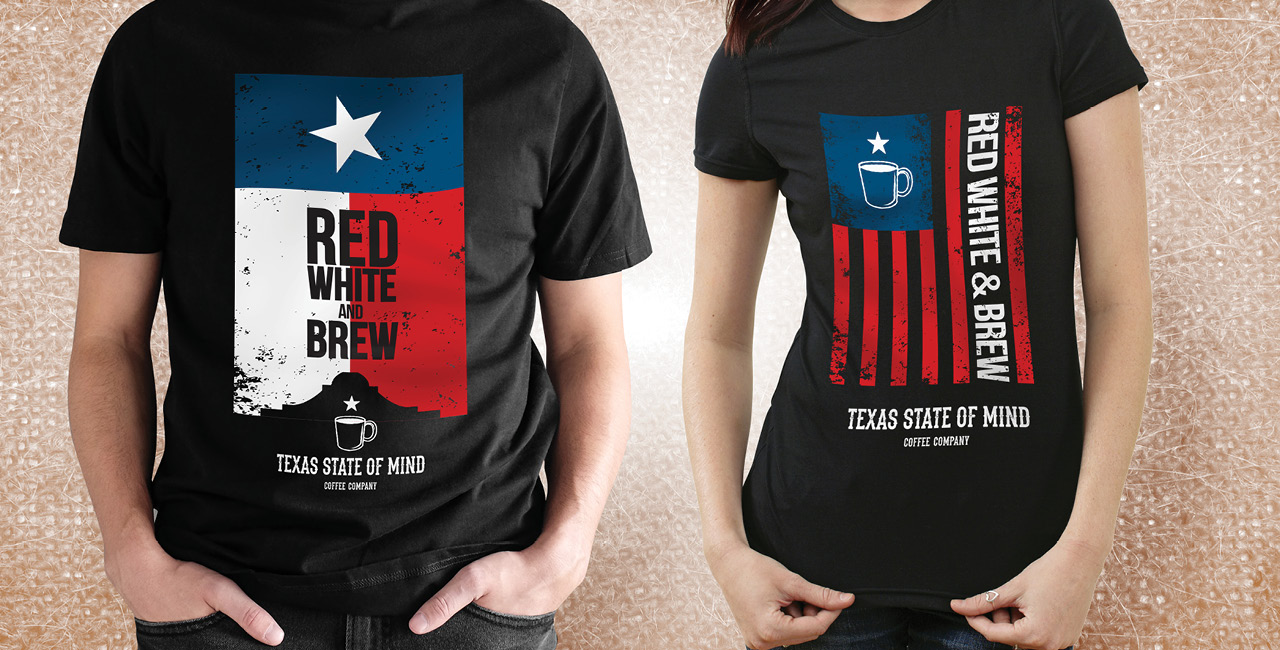 Texas State of Mind Coffee - T-shirts