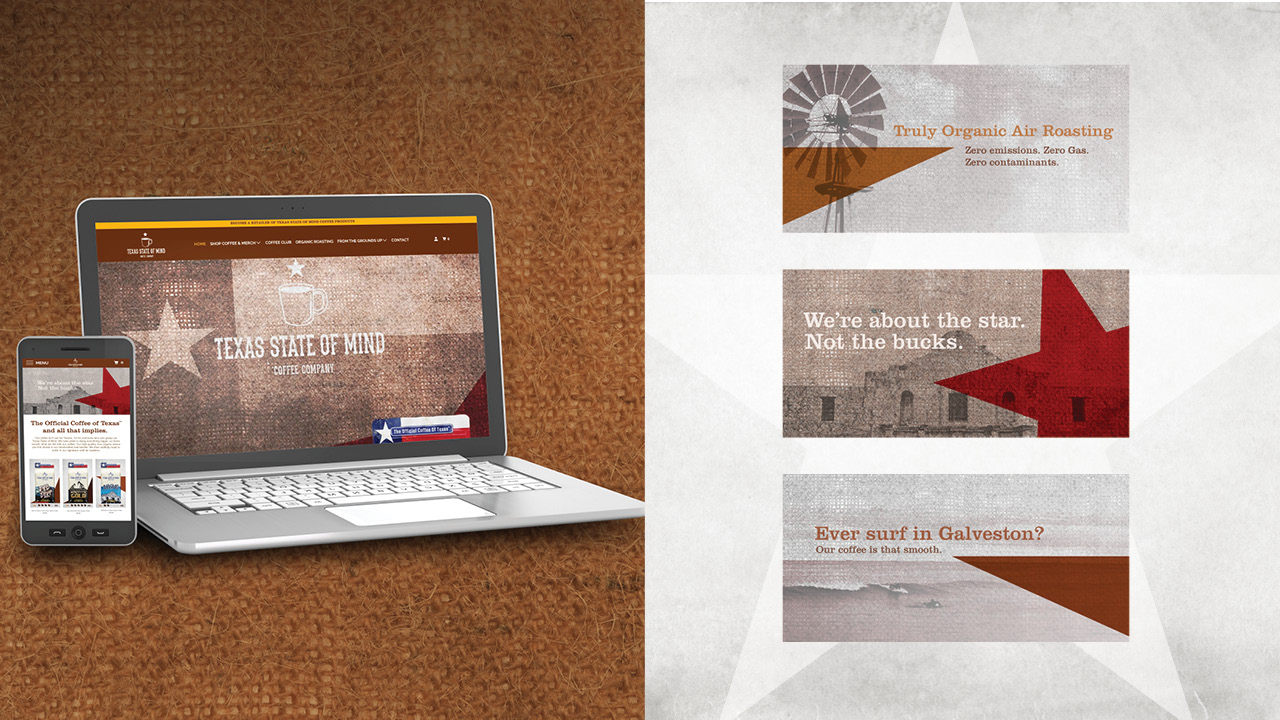 Texas State of Mind Coffee - Website