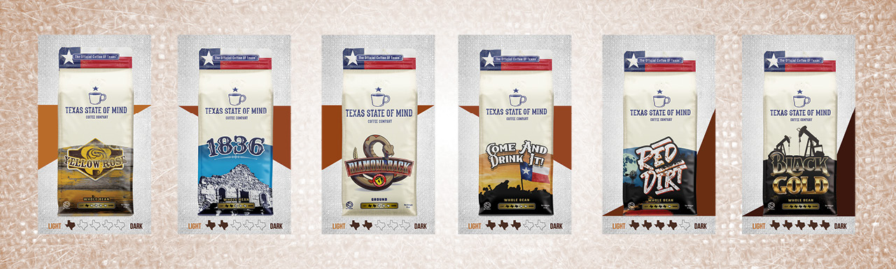 Texas State of Mind Coffee - Product Presentation bags